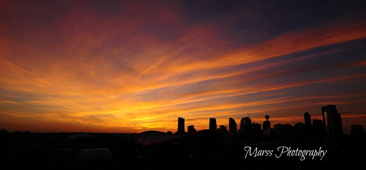 Calgary At Dusk - By Marss Photography