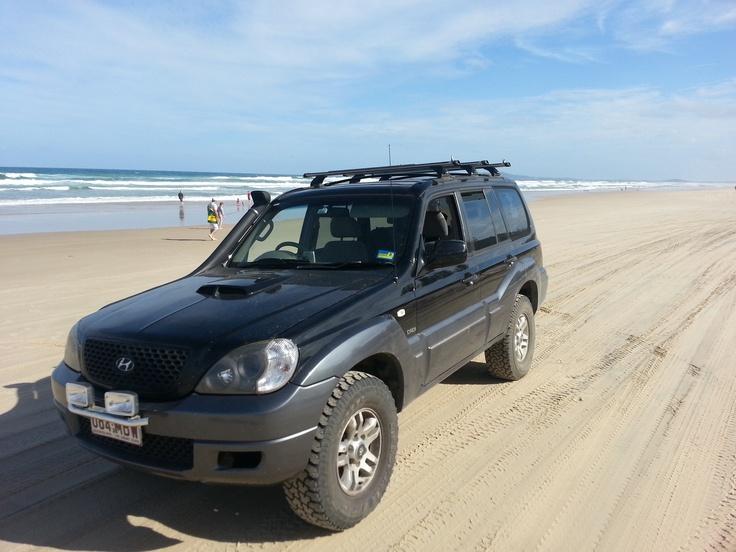 Hyundai Terracan at Noosa Northshore Beach, Cooloola NP, Queensland, Australia