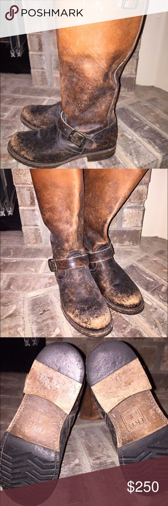 Frye riding boots Frye riding boots, only wore a few times. Basically new, smoke and pet free home. Frye Shoes Heeled Boots