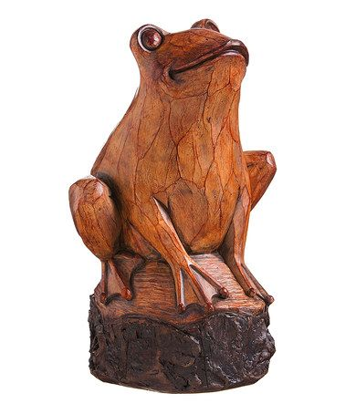 Another great find on #zulily! Wood Carved Frog Statue #zulilyfinds
