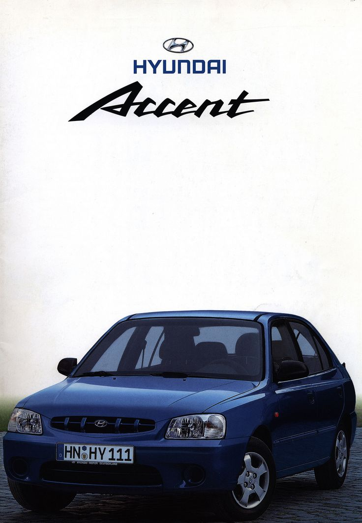 https://flic.kr/p/FBBYk3 | Hyundai Accent; 2000_1 | front cover car brochure by worldtravellib World Travel library
