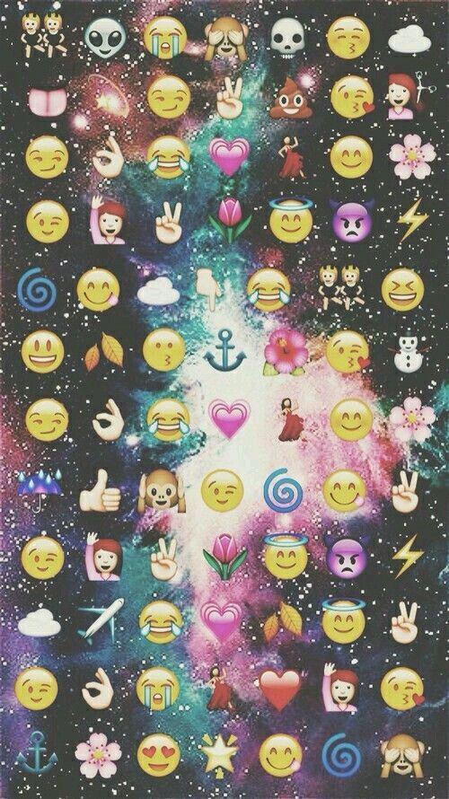 Fondos emoji y galaxia