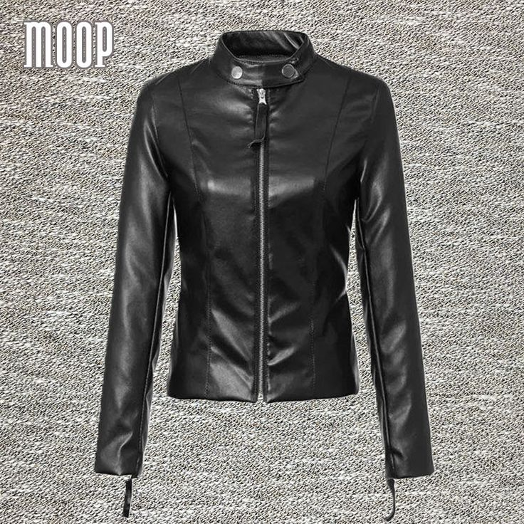 Black PU leather jackets and coats women motorcycle jacket veste en cuir femme cazadora cuero mujer blouson Free shipping LT092