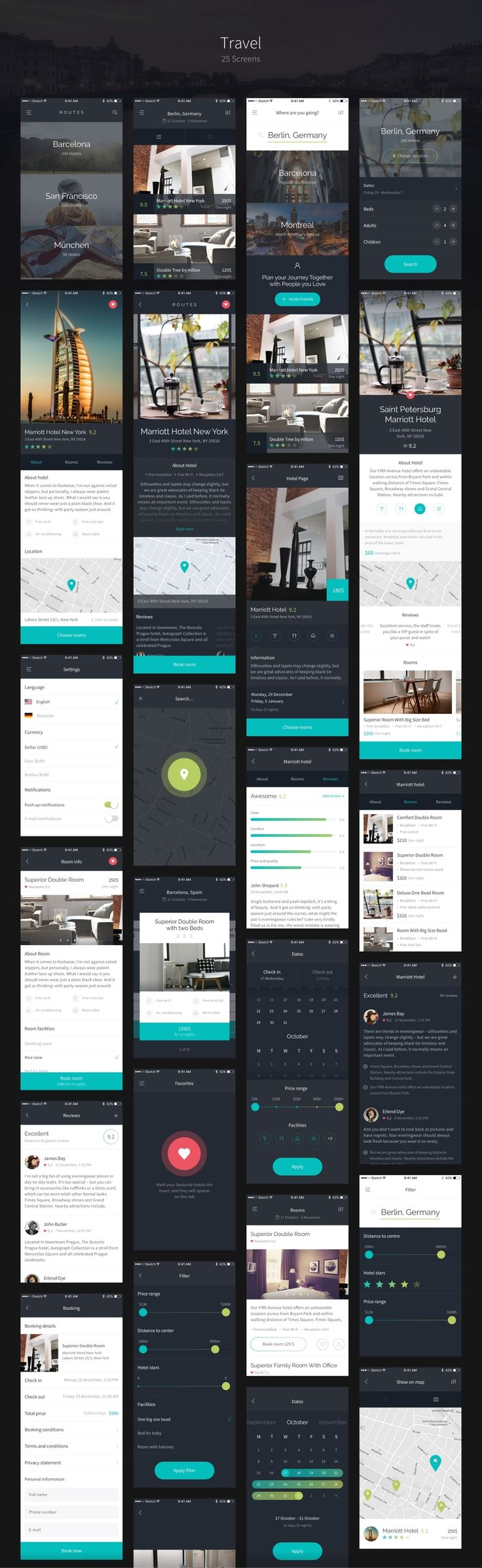 This is Routes – right in front of you. Routes is a big iOS UI Kit, full of nice UI elements, organized into 100+ qualitative…