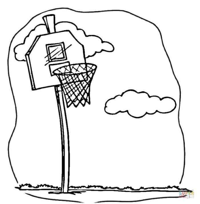 Basketball Hoop Coloring Pages Baseball Coloring Pages Super Coloring Pages Sports Coloring Pages