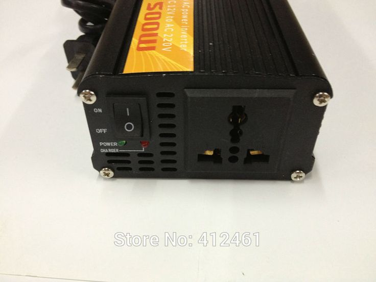 500W solar power inverter with charger dc 12v to ac  Power Sine Wave Inverter 500W With Battery Charger