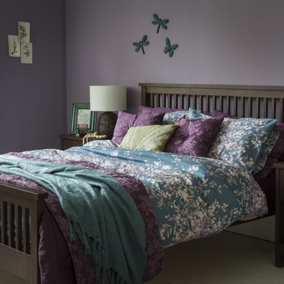 By Sainsbury S Teal Fl Print Duvet Cover Set Covers Bedding Bedroom