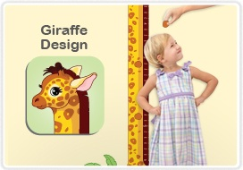 Cute Room-eez™ giraffe-themed growth chart can be applied, removed and reapplied without harming walls!: Harm Wall, Giraffe Them Growth, Charts Decals, Growth Charts, Rooms Eez, Kids Rooms