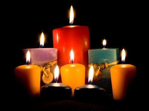 DE TODO UN POCO: Los días de la semana y sus colores en las velas