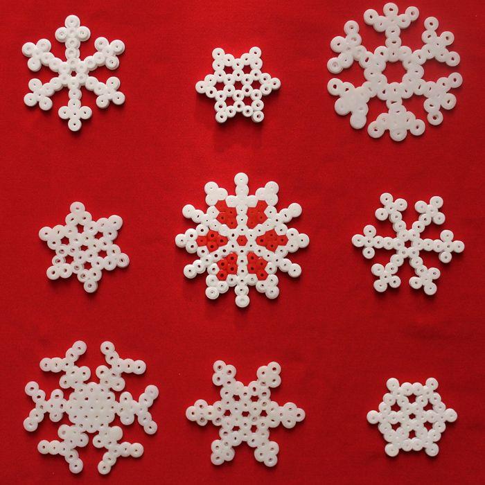 Christmas ornaments hama beads by Nóri