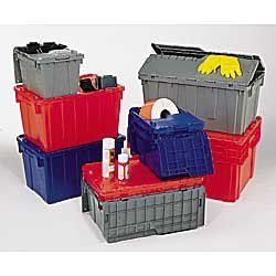 ORBIS Solid-Color FliPak Totes - Blue by FLI. $36.30. Totes are proportioned to maximize your pallet's footprint.
