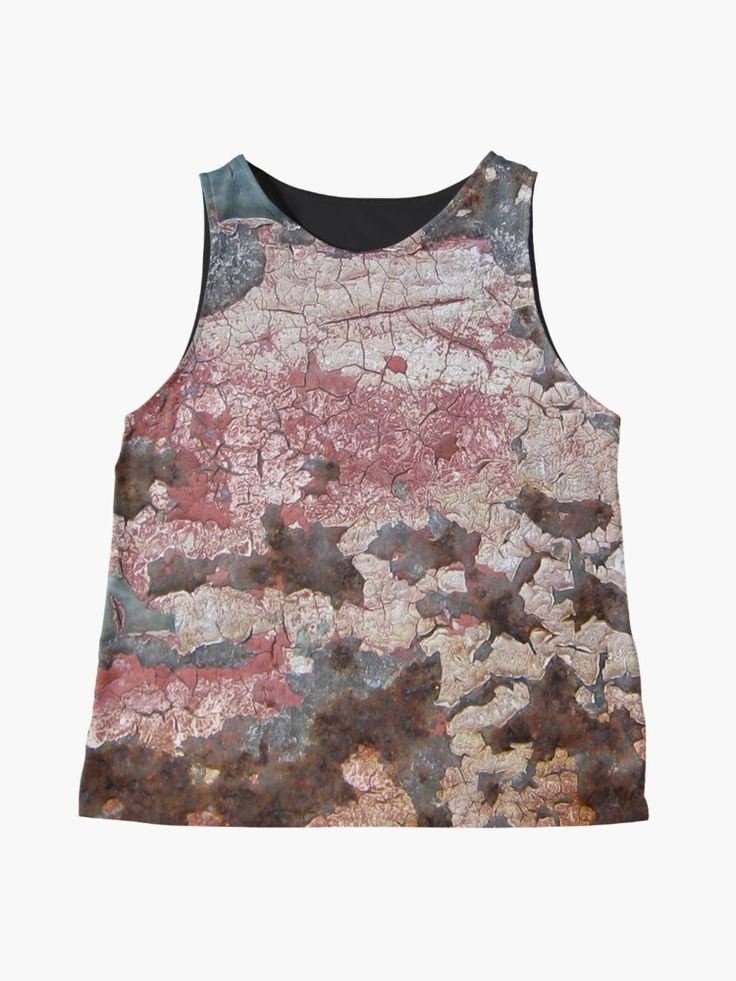 """Cracking Paint and Rust Abstract"" Contrast Tank by oknoki 