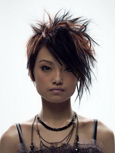 assymetrical....this is my next hair cut!! Yep goin back short!