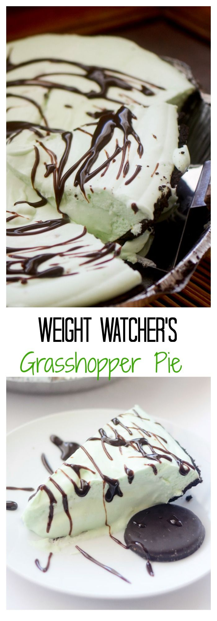 Weight Watcher's Grasshopper Pie - I'm sorry this is the silliest pin and name for a dessert I have ever heard.
