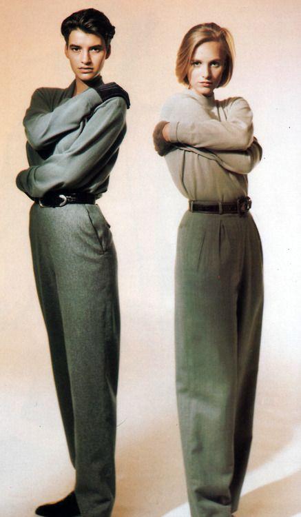 Guzman for Mirabella magazine, October 1989. Clothing by Calvin Klein.