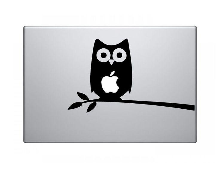 "Owl Vinyl Decal Sticker Skin for Apple MacBook Pro Air Mac 13"" inch #PastDarkGraphics"