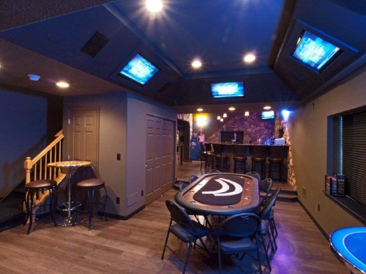 Long Narrow Man Cave Bachelor Pad Basement Room With Stone Bar And Built In Ceiling Tv Man Cave Design Man Cave Home Bar Best Man Caves,Closet Modern Built In Cabinets Bedroom