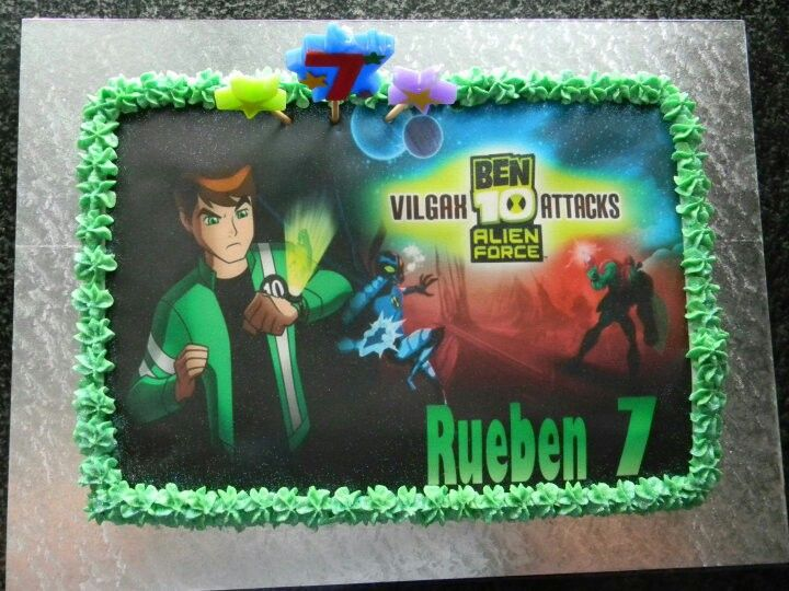 Ben 10 done with an edible print