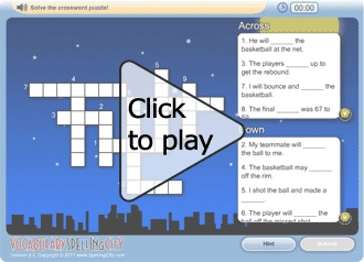 Make crossword puzzles for kids that use content created especially for your students by entering your word list and customizing the sentences! Crosswords can be played as puzzles online or printable puzzles may be generated as worksheets for your students.