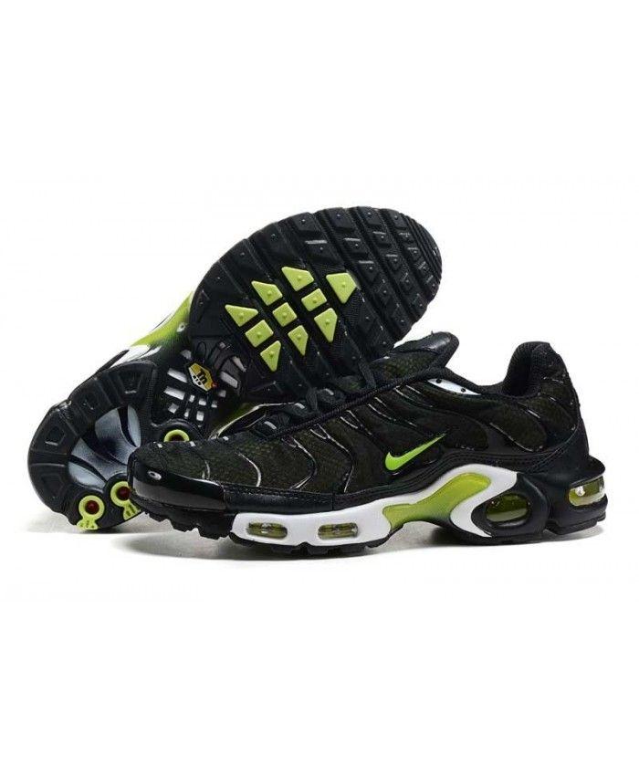 nouveau style ec180 44307 Homme Nike Air Max TN Verte Noir Fluorescent Chaussures ...