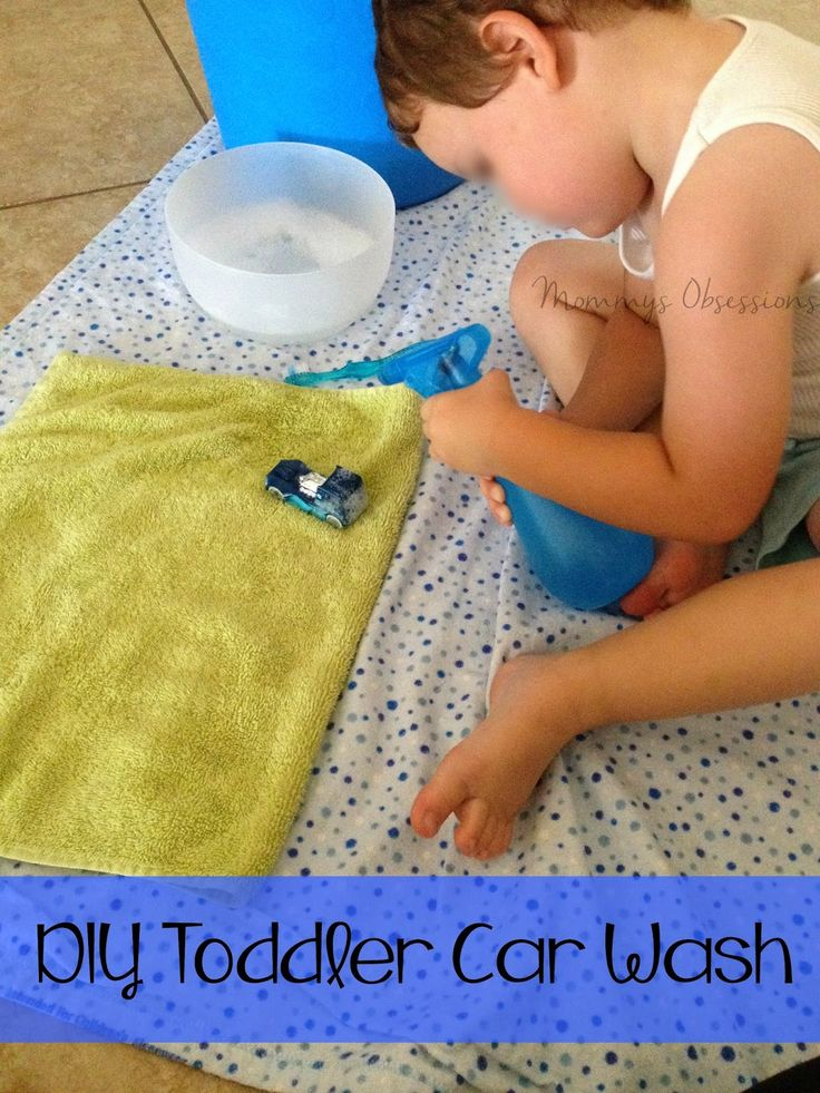 DIY Toddler Car Wash {Rainy Day Project}