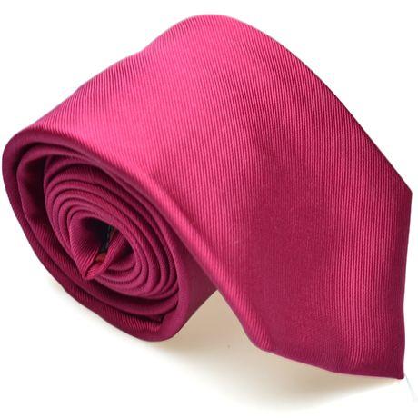 Cravate fushia unie twill