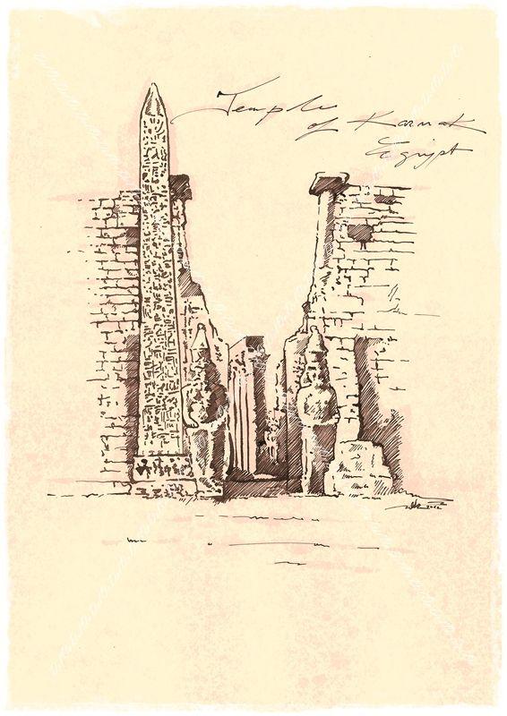 The temple of Karnak Egypt