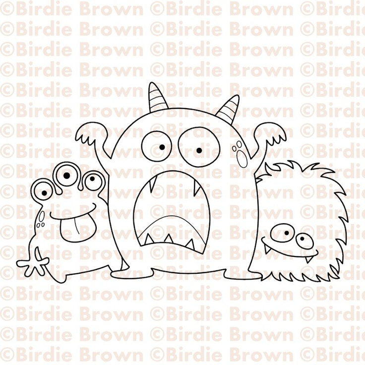 Dibujo de monstruos