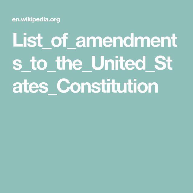 List_of_amendments_to_the_United_States_Constitution