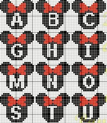 Mickey/Minnie Mouse Personalized Perler by LotsOfStuffAndSuch