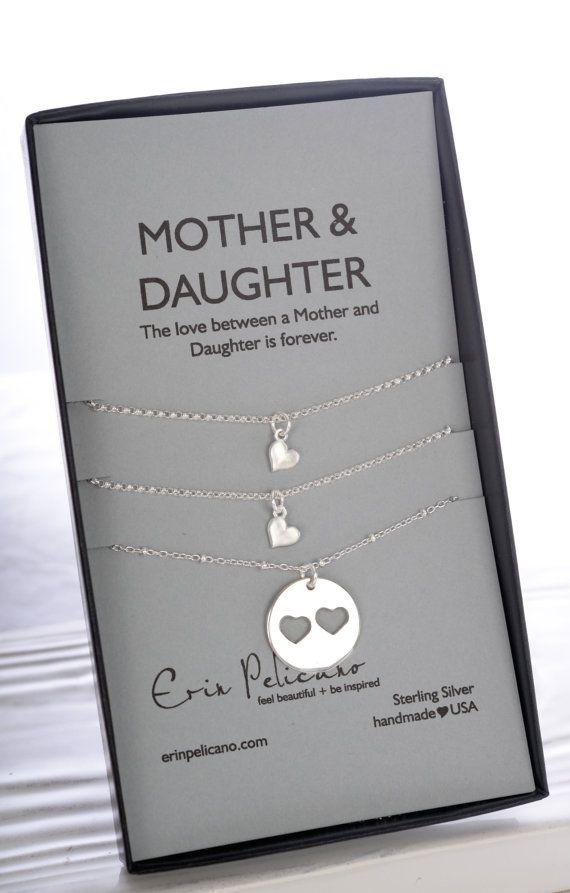 Mutter-Tochter-Schmuck. Mutter Tochter. Mama-Halskette. Mammen-Geburtstag. Inspirierend. Annahme-Geschenk. Mutter der Braut. Hochzeits Party Geschenke.