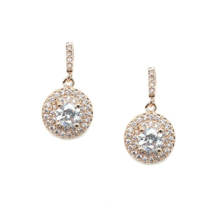 Gorgeous cubic zirconia earrings. Nickel free post (hypoallergenic). Rose gold plated.Approximately 2.0cm length