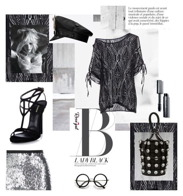 """""""Rosegal- black lace blouse"""" by littlenomaden ❤ liked on Polyvore featuring Yves Saint Laurent, Dsquared2, Alexander Wang, Topshop, Bobbi Brown Cosmetics, ZeroUV, black, lace, blouse and rosegal"""