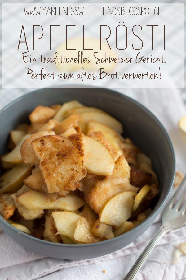 Apfelrösti ist ein traditionelles Schweizergericht. Es besteht aus Apfel und Brot. Es hat nichts mit den normalen Schweizer Rösti zu tun. Es ist ganz fix zu bereitet und steht innert Minuten auf dem Tisch. Ich habe das als Kind geliebt. Ob zum Abendessen oder Dessert es passt einfach immer.