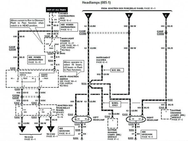 96 Dodge Ram Headlight Switch Wiring Diagram A Backup Gambar Light Switch Wiring Electrical Wiring Diagram F150