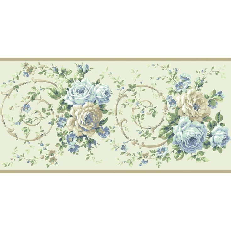 "Casabella II Rose Floral and Botanical 15' L x 10"" W"