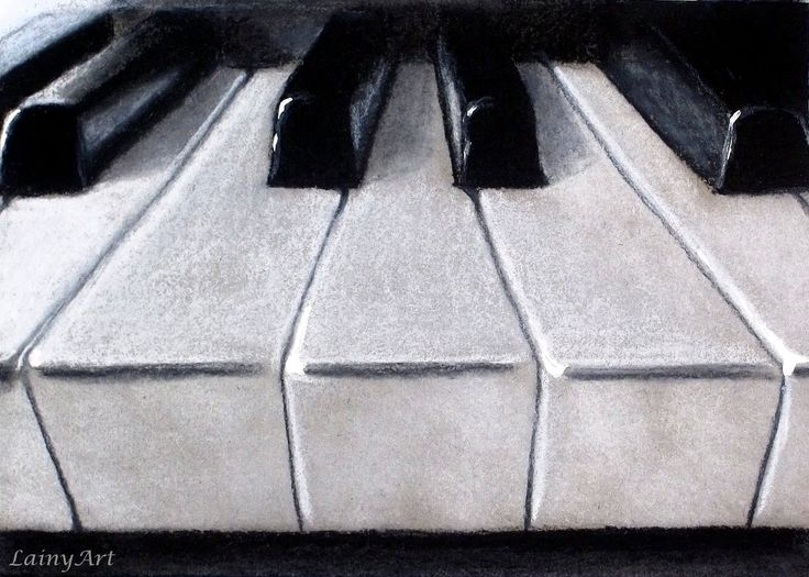 piano charcoal drawing - Google Search