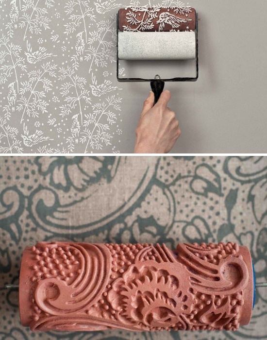 paint with roller that looks like wallpaper!