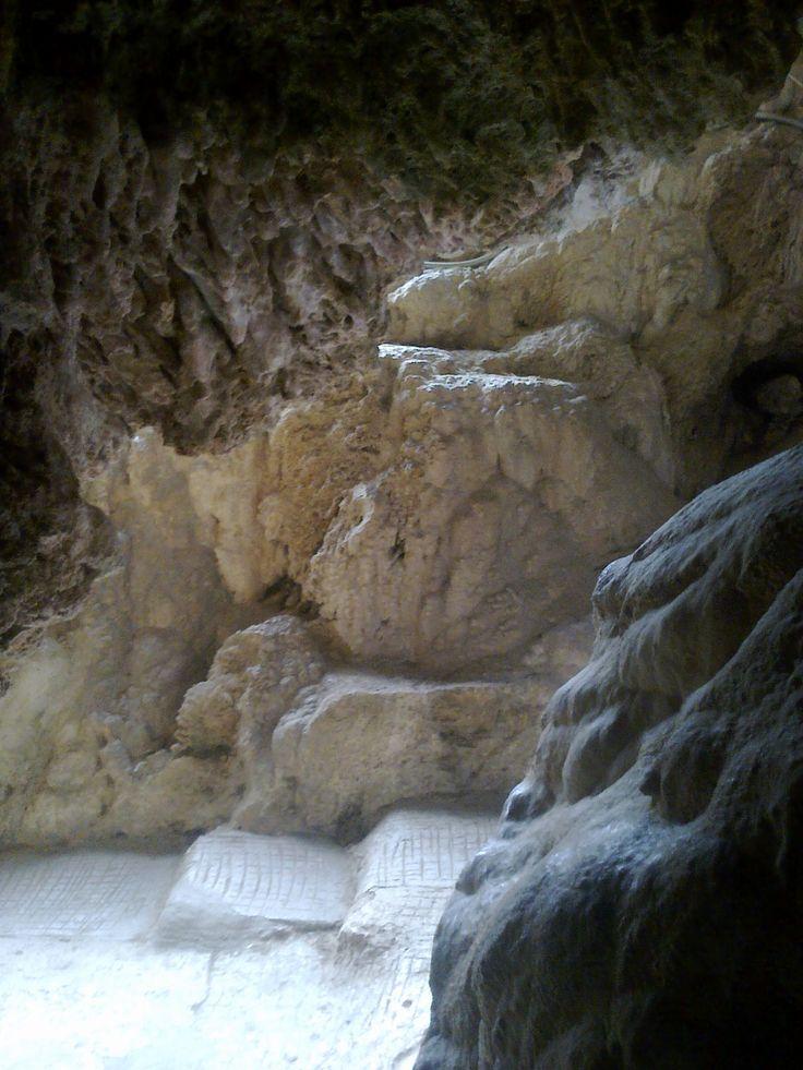 Edessa Waterfalls ( view behind the waterfalls), Greece