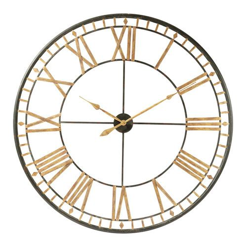 Black Metal Clock D120 Metal Clock Large Metal Wall Clock Clock
