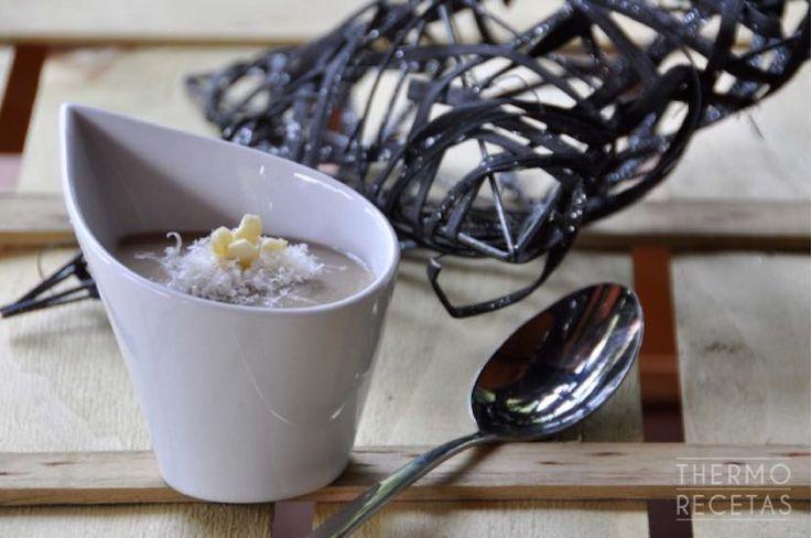 Crema de setas y castañas asadas - http://www.thermorecetas.com/crema-de-setas-y-castanas-asadas/