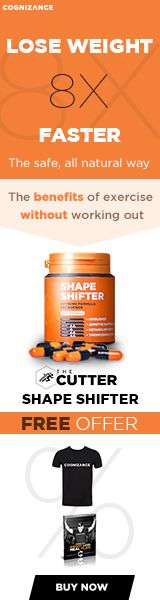 Lose weight up to 8X faster the safe, all natural way! With Shape Shifter you can make your body mimic the natural effects of exercise-known as Thermogenesis- to burn fat, suppress appetite, and lose weight safely and naturally with zero side effects.