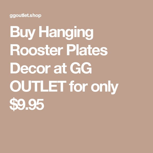 Buy Hanging Rooster Plates Decor at GG OUTLET for only $9.95