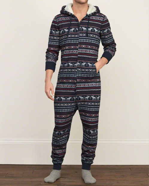 Mens Patterned Onesie | Mens New Arrivals | Abercrombie.com...... But the red one