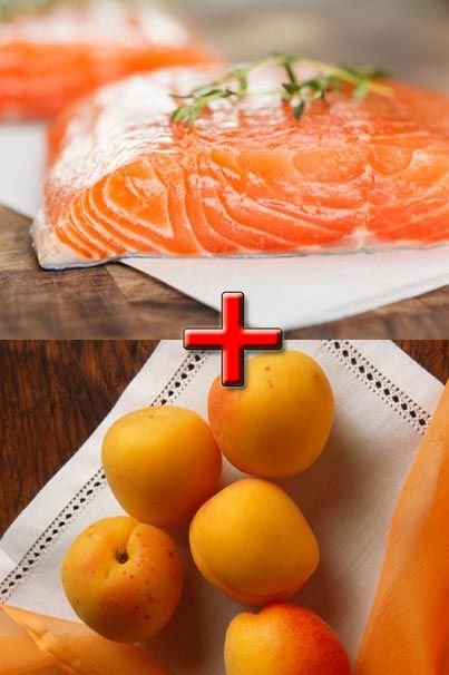 Altantic salmon and apricots! Who would have thought they go so well together!