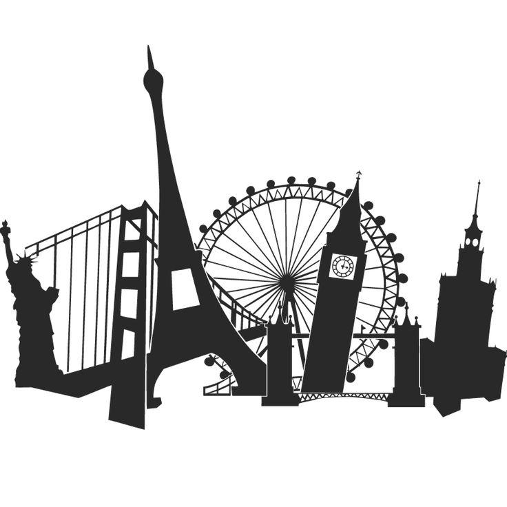 Wall Sticker Paris, London, San Francisco...