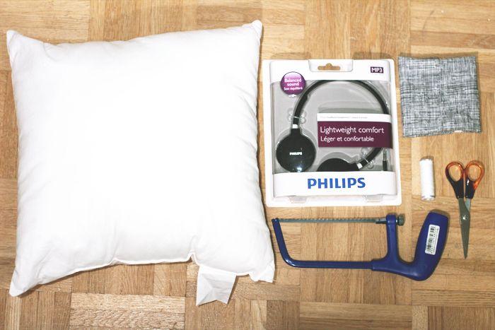 How to make headphone pillows!