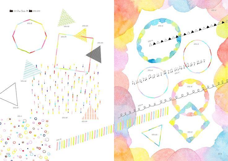 水彩・色鉛筆・クレヨン ふんわりやわらか手描き素材集 (デジタル素材BOOK) | fuu (etu-pirica design), taneko, waka | 本-通販 | Amazon.co.jp