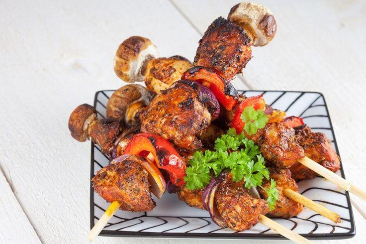 Bbq chicken shashlik