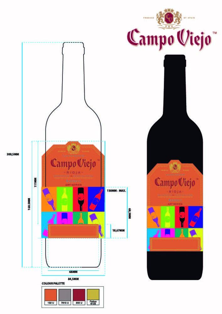 Diseña la etiqueta para la 5ta edición limitada de la botella de Campo Viejo